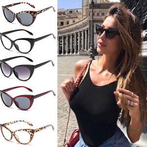 c212dfa35a Image is loading Women-Fashion-Oversized-Sunglasses-Cat-Eye-Flat-UV400-