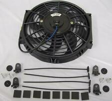"""High Performance 10"""" Curved S-Blade Electric Radiator Cooling Fan + Mounting Kit"""