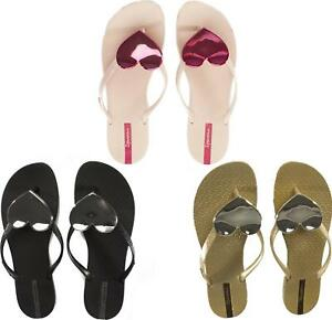 8d5abc75628b87 Image is loading Ipanema-MAXI-HEART-Ladies-Flip-Flops-Black