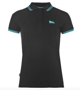 Lonsdale-London-Damen-Polo-Shirt-Blau-Schwarz-Weiss-Lila-alle-Groessen-Neu