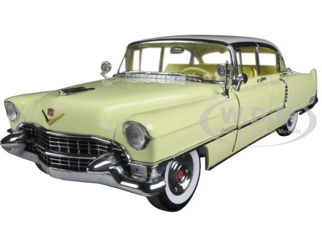 precios mas bajos 1955 Cadillac Fleetwood Serie 60 Amarillo C     Techo blancoo 1 18 por verdelight 12937  contador genuino