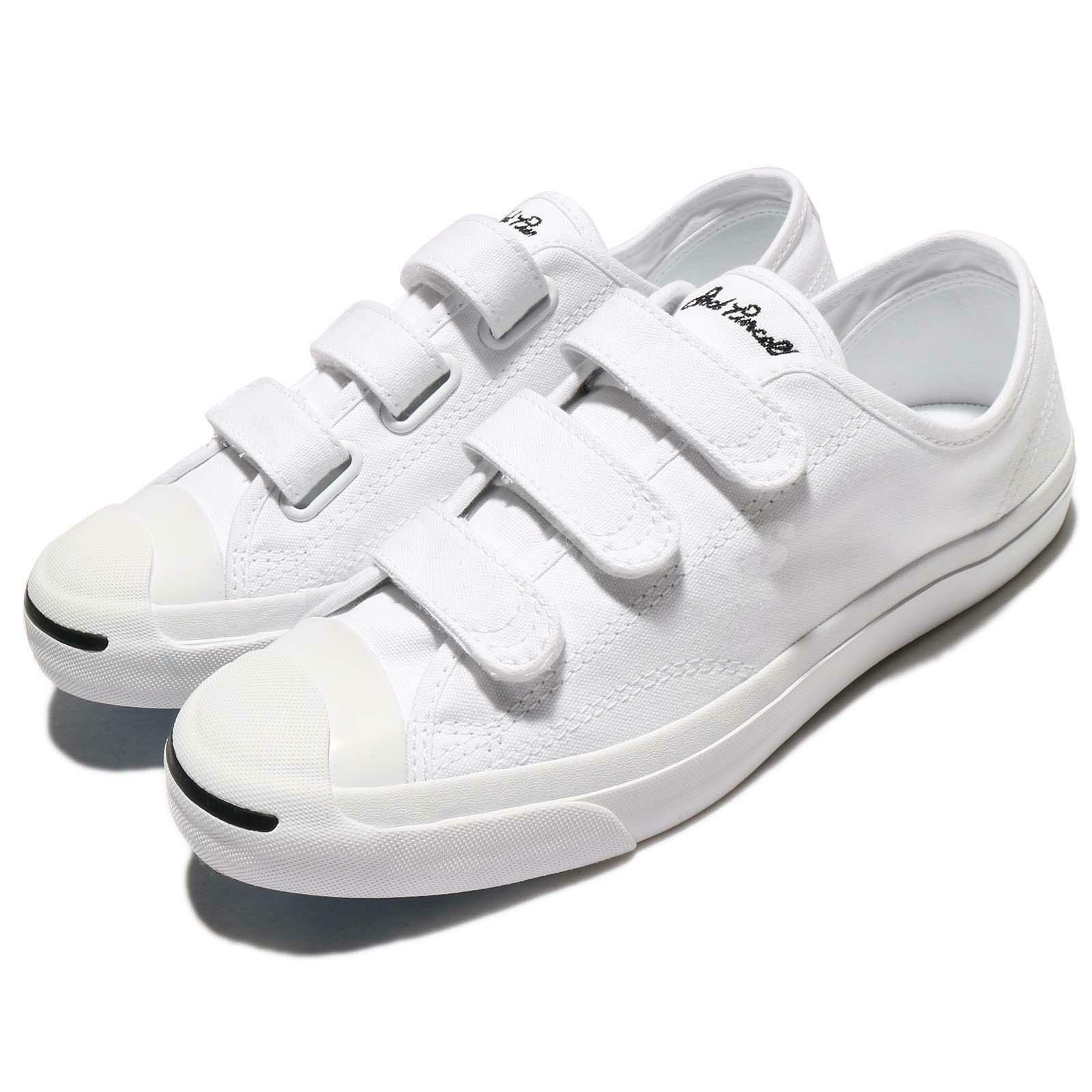 Converse Jack Purcell 3V Canvas White Uomo Donna Shoes  Trainers 160238C