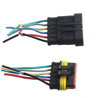 6 polig kabel kfz steckverbinder stecker wasserdicht schnellverbinder ljq12 ebay. Black Bedroom Furniture Sets. Home Design Ideas
