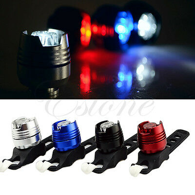 1PC Bike Bicycle Cycling Front Rear Tail Helmet Flash Light Safety Warning Lamp