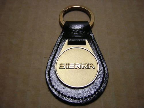 1 FREE FORD SIERRA KEY RING LEATHER SOLID BRASS FOB