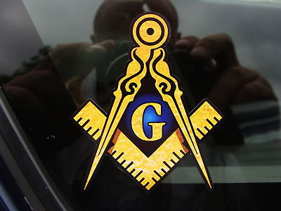 """ProSticker 003 10 pk 1/"""" Masonic Series /""""Compass and Square/"""" Decals Stickers"""