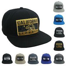 California Republic Bear hat Ship Captain hat Snapback Baseball cap White//Gold