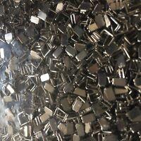 100 Endstücke/Stopper für Reissverschlüsse unten 4 mm Farbe Silber