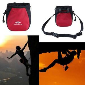 Outdoor-Rock-Climbing-Chalk-Bag-Waterproof-Polyester-Magnesium-Powder-Pouch-Red