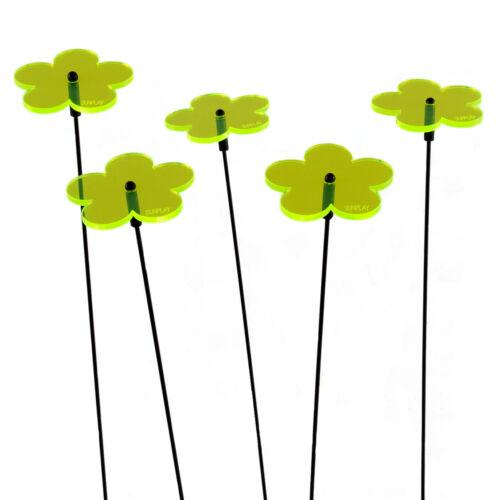 5 Stück SUNPLAY Sonnenfänger Ø5cm Suncatcher Gartenstecker Blumen GRÜN
