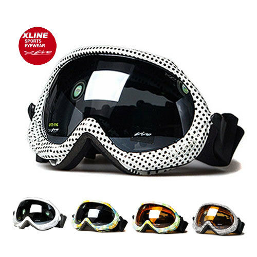 XLINE 4PP028 Goggles SKI SNOWBOARD Snow Mirrored UV Double Mens  Large Big  check out the cheapest
