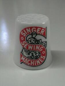 Up4Bid Singer Sewing Machines Collectible Porcelain Thimble