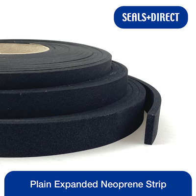 Various Size Neoprene Sponge Rubber Self Adhesive Strip 10 Metre Coil 50mm x 5mm