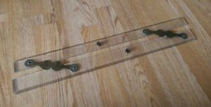 VINTAGE-MACLEAN-PARALLEL-RULE-21-034-LONG-PERSPEX-WITH-BRASS-FITTINGS-QUALITY-ITEM