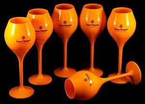 Champagne veuve clicquot ponsardin orange acrylic limited edition taisting glas ebay - Coupe champagne veuve clicquot ...