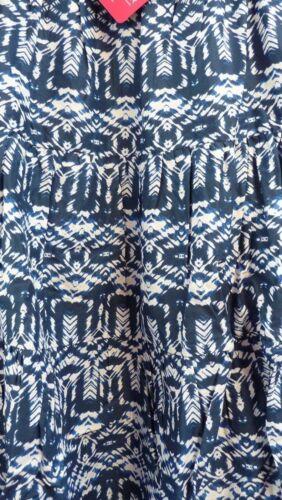 Juntos Falda Azul Blanco Talla 10 Verano Estampado Cintura Elástica BNWT G038
