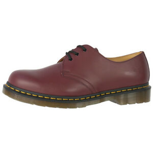 Dr-Doc-Martens-1461-cuir-chaussures-boots-3-trous-Cherry-Red-Smooth-11838600
