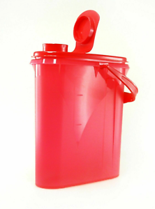 Tupperware Beverage Buddy 2 qt Slim Door Pitcher /& Handle Red Teal White New
