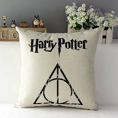 High Quality Harry Potter Cotton Linen Throw Pillow Case Bed Cushion Back Cover