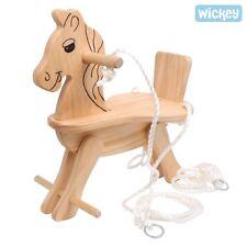 WICKEY Kinderschaukel TRIXIE 3371 Schaukelsitz Holzschaukel Schaukel Pferd Holz