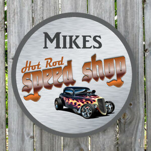 Mechanic on Duty Speed Shop Decorative Sign Custom Aluminum Sign