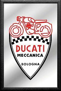 Ducati-Motorrad-Spiegel-Bogogna-Mirror-Wandspiegel-Bar-Kneipe-30cm