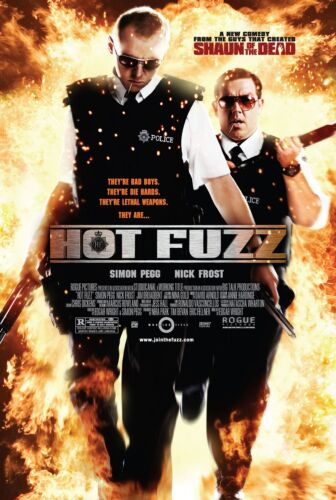 Hot Fuzz 2007  Movie Poster A0-A1-A2-A3-A4-A5-A6-MAXI C160
