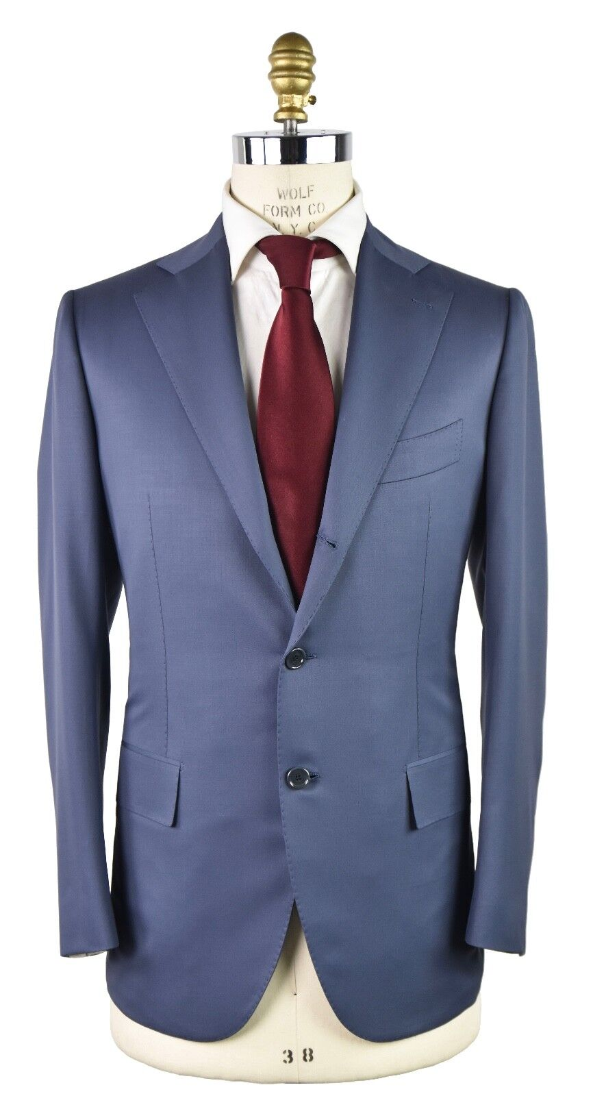 NEW 2018 CESARE ATTOLINI SUIT 100% WOOL 180'S SZ 44 US 54 EU 7R 18AV66
