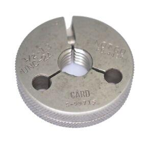 1-2-13-UNC-2A-Thread-Ring-Gage-Go-Not-Go-500-13-Card