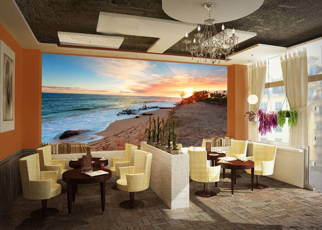 3D Ocean Beach Sun 93 Wallpaper Mural Wall Print Wall Wallpaper Murals US Summer