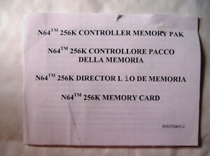 61164-Instruction-Booklet-N64-256K-Controller-Memory-Pak-Nintendo-64-INST