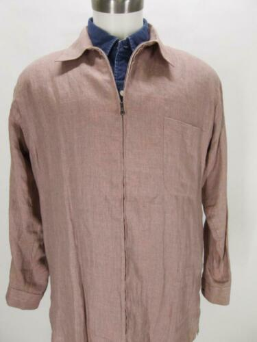 CIFONELLI Italy coral linen artist smock-style ful