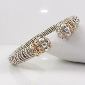 Alwand-Vahan-14K-Yellow-Gold-Sterling-Silver-Modernist-Cuff-Bracelet-LHA4