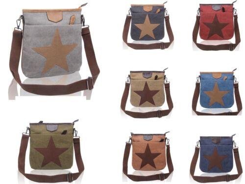 Women Canvas Star Pattern Small Crossbody Bag//Fashion Messenger Shoulder Handbag