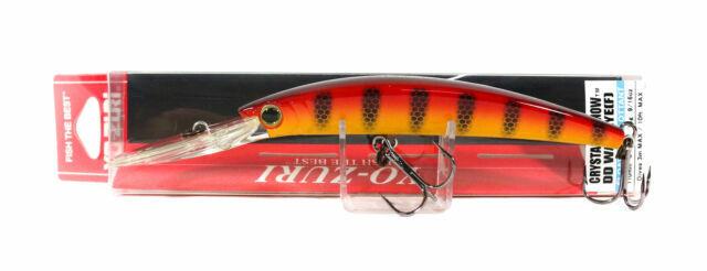 Yo Zuri Crystal Minnow DD Walleye 110 mm Floating Lure R1206-HOPC Hot Perch