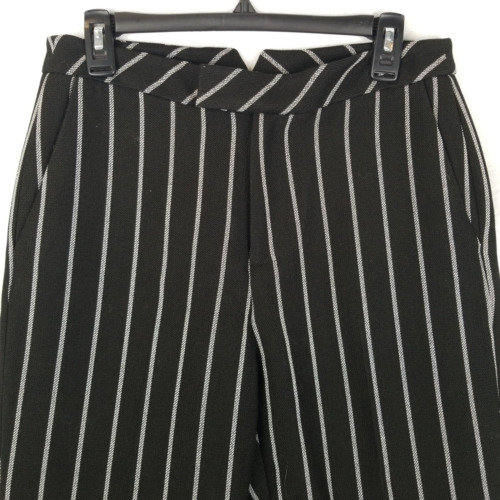 Eva Mendes Womens Gaucho Pants Striped Straight Le