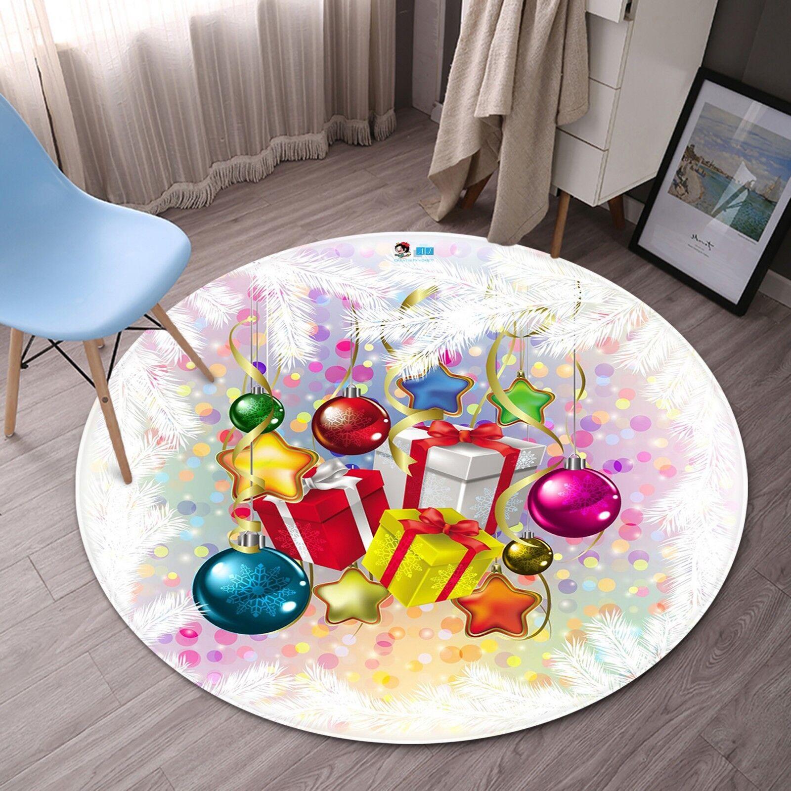3D Christmas Xmas 764 Non Slip Rug Room Mat Mat Mat Round Quality elegant photo carpet 404f4f