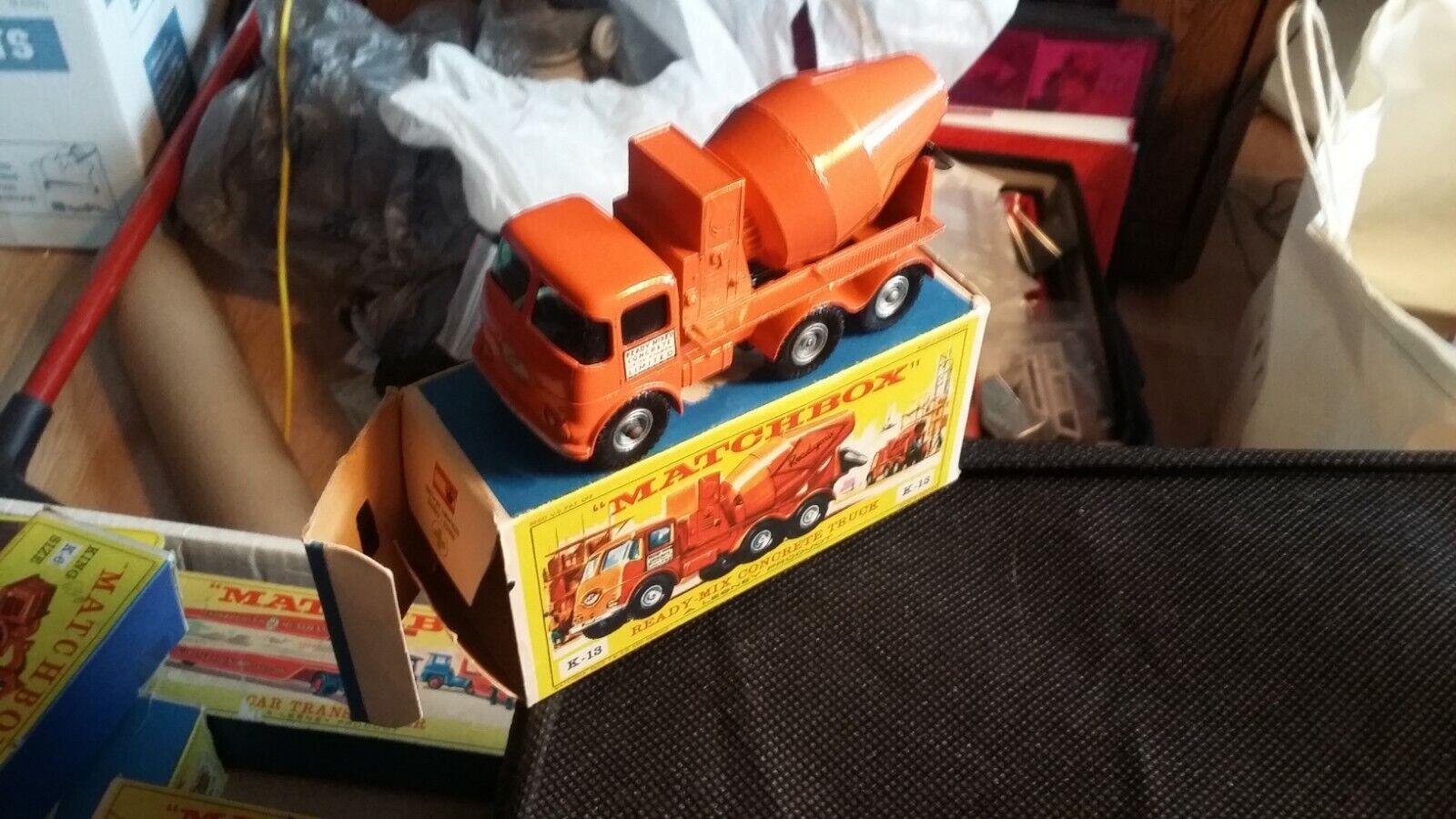 Matchbox, Lesney K13 Ready Mix Concrete Truck NMIB, 1 43, Beautiful, Antique