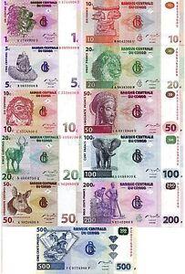 CONGO-Africa-11-pcs-UNC-set