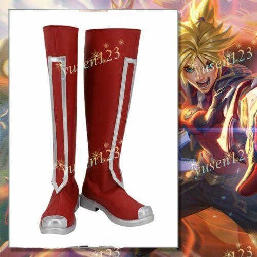 LOL League of Legends Battle Academy Ezreal EZ Cosplay Shoes Red Men COS Boots