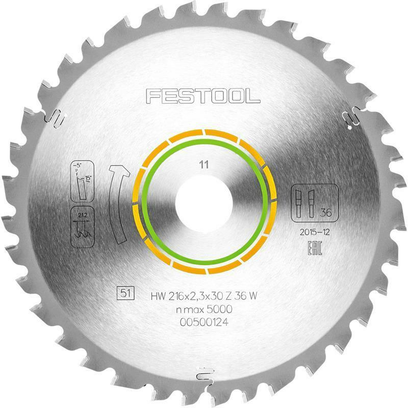 Festool Universal-Sägeblatt 216x2,3x30 W36 für Kapex KS 60 Holzwerkstoffe Hölzer