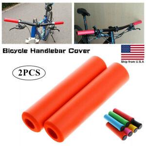 2PCS MTB Soft Foam Silicone Sponge Handle Bar Grips Handlebar Cover Bike Bicycle