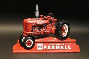 Cast Iron McCormick Farmall Tractor Door Stop Antique Vintage Style