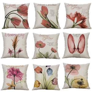 18-Printing-tulip-flower-shell-Pillow-Case-Cotton-Linen-Cushion-Cover-Home-Decor