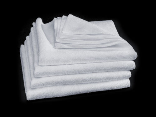 WeatherTech TechCare Super White Microfiber Cleaning Cloth Pack of 4