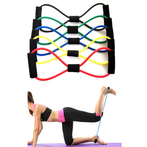 Elastic Rubber Resistance Latex Band Loop Yoga Fitness Exercise Train dnSKHK