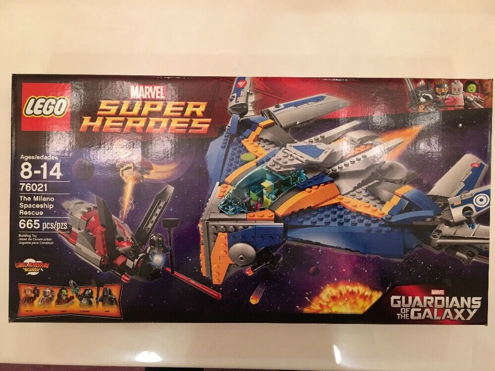 New LEGO Superheroes 76021 The Milano Spaceship Rescue Building Set Fun Toy