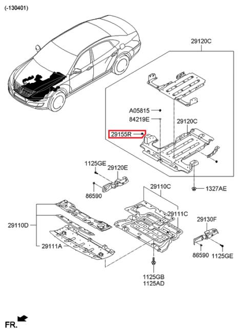 kia oem 15 16 k900 splash shield under cover retainer 291553a000 ebay Kia 900 S Sedan