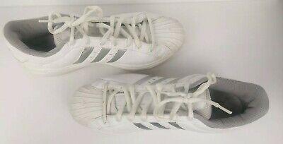 silver stripes Sneakers Mens White Size