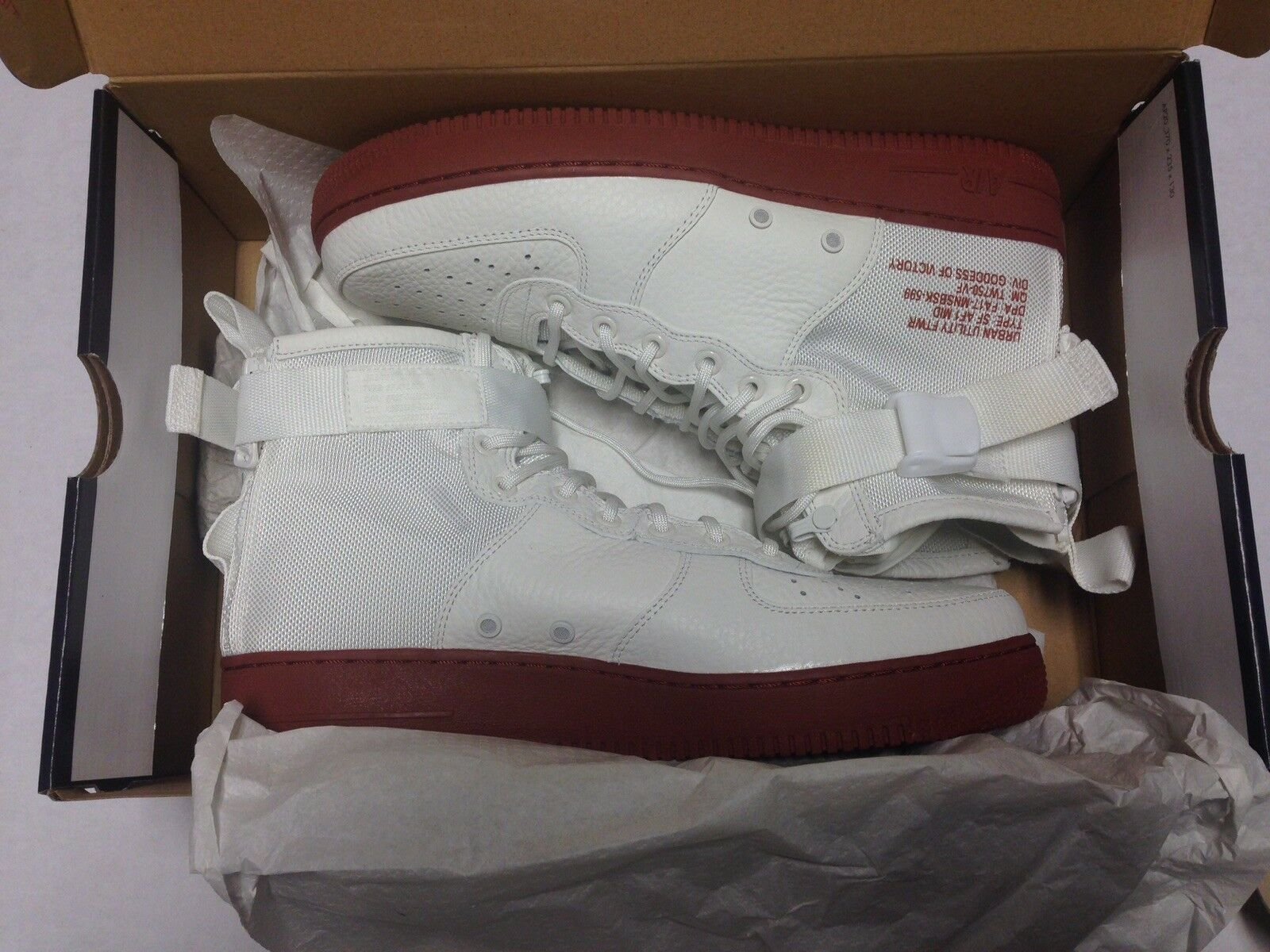 Nike SF AF1 MID Air Force 1 Special Forces Ivory Mars Stone 917753-100 SZ 11
